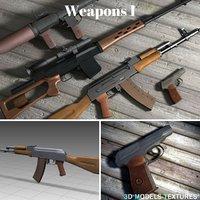 3D weapons 1 model
