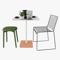 3D furniture cafe terrazzo