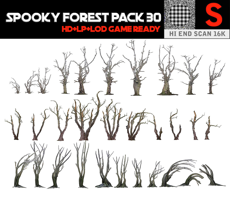 spooky forest pack 30 3D model