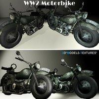 3D ww2 motorbike model