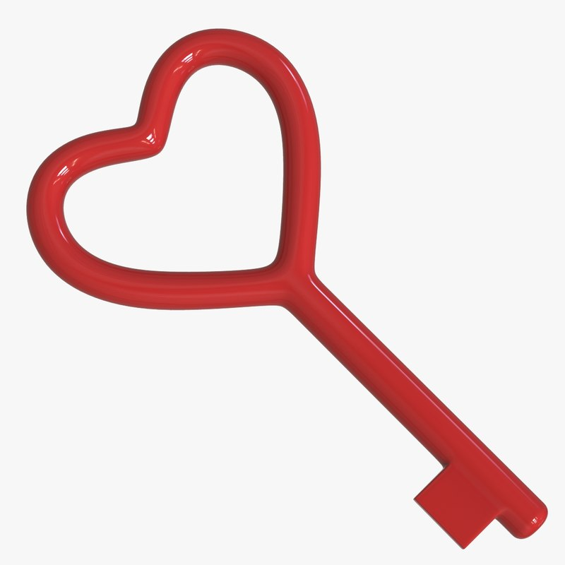 3D model heart key