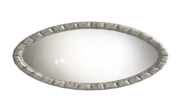 large oval wall mirror 3D