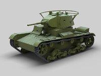 3D soviet tank t-26