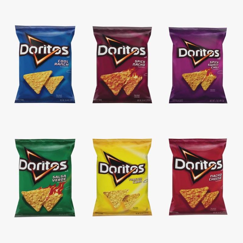 3D doritos chips model