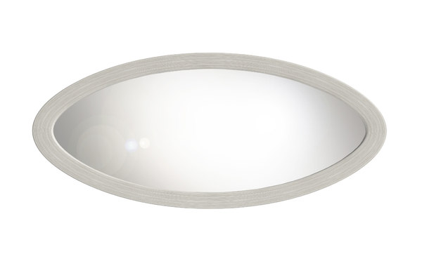 large oval wall mirror 3D model