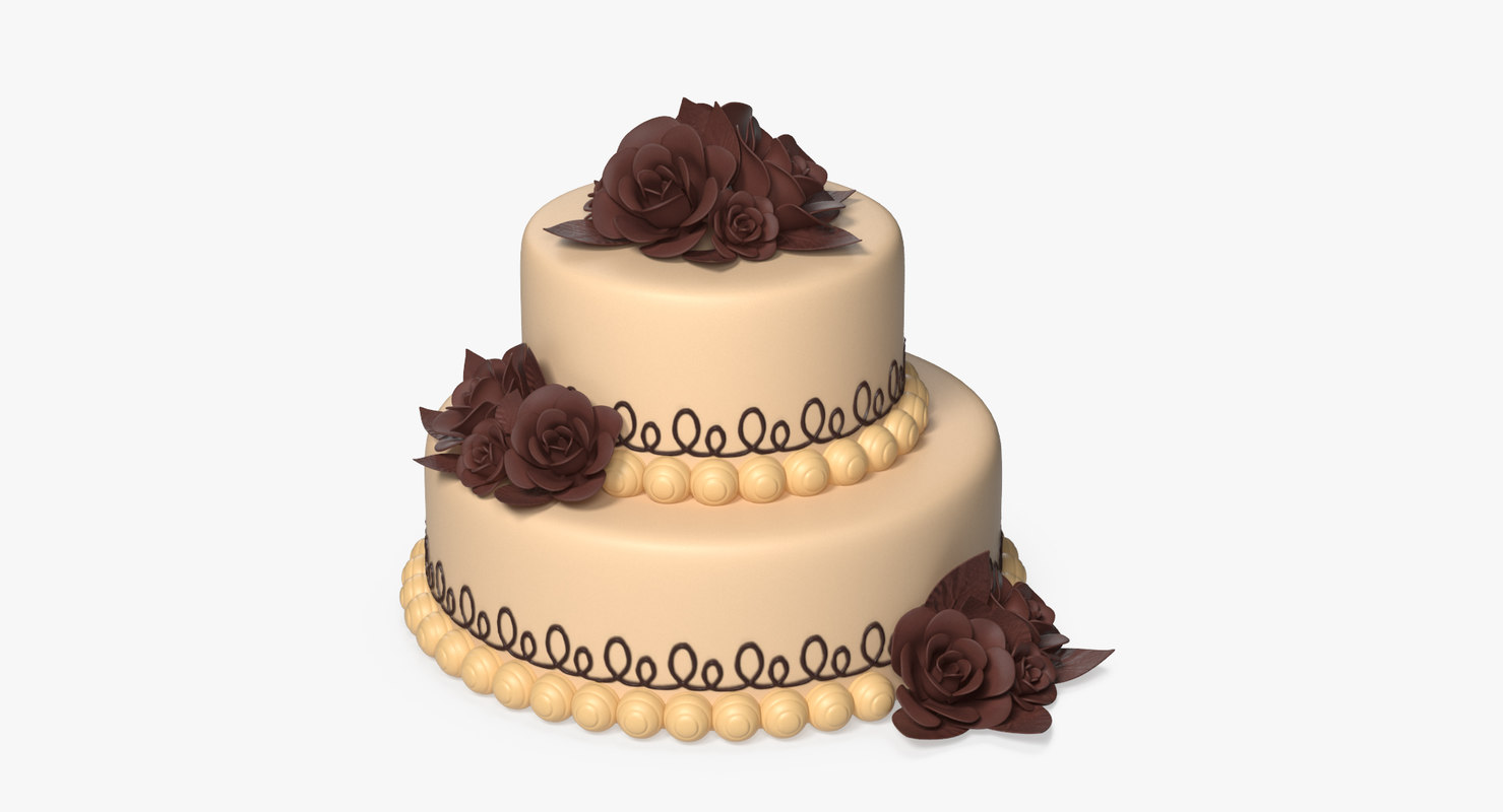 3D cake two-tiered model