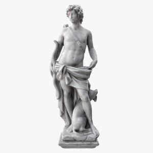 3D boy bow statue