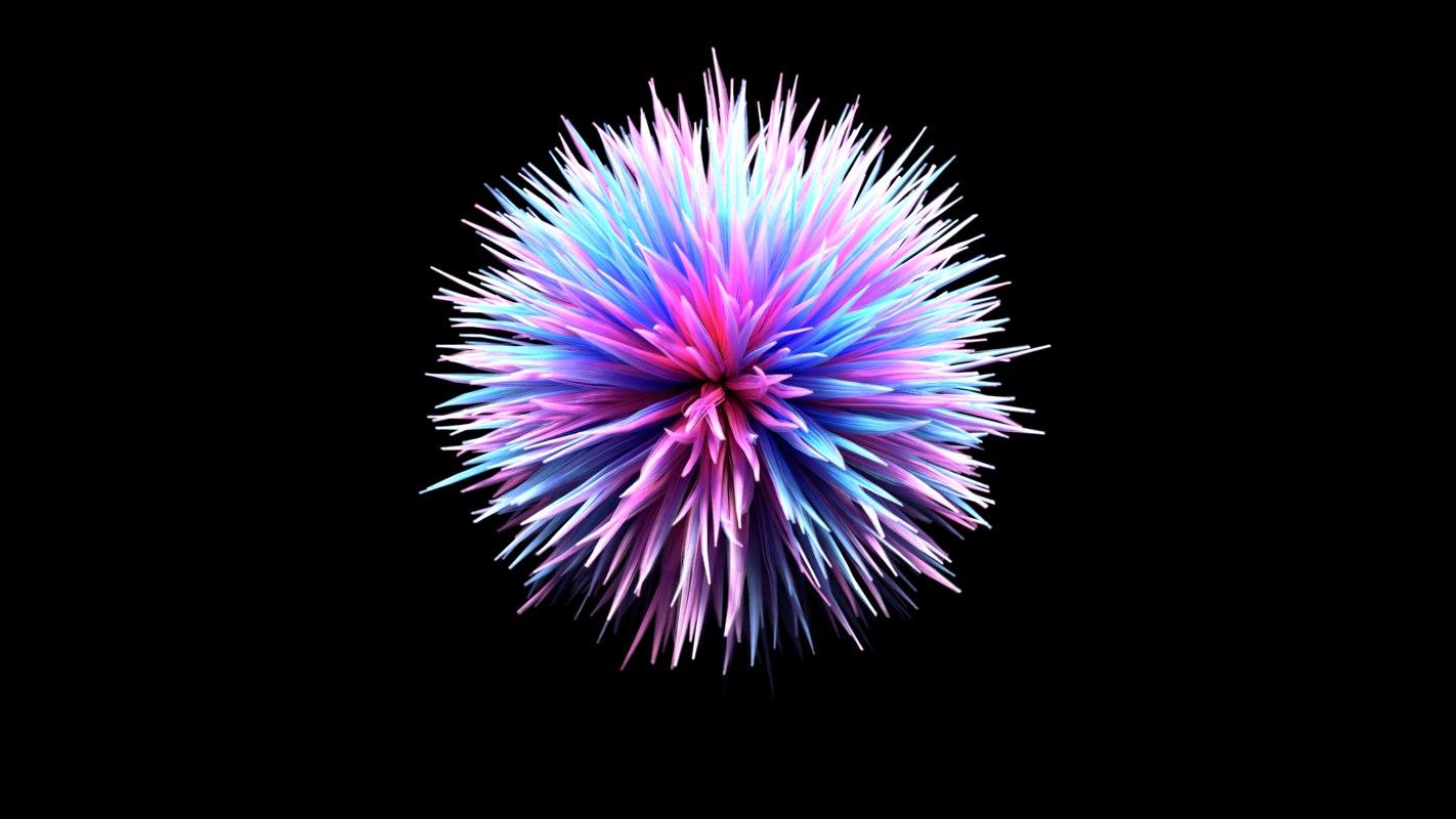 ball hair 3D model
