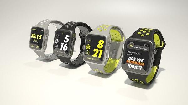 3D apple watch nike model