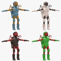 3D sci-fi man