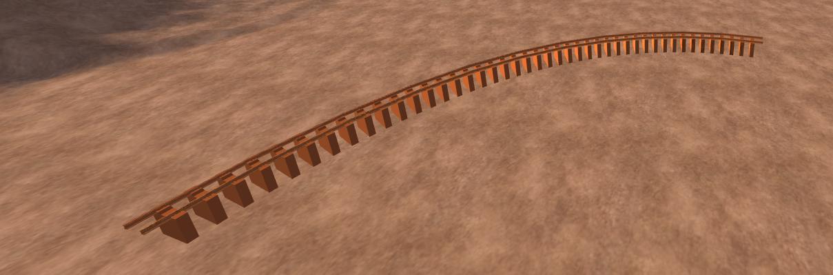 3D 90 degree rail road track model