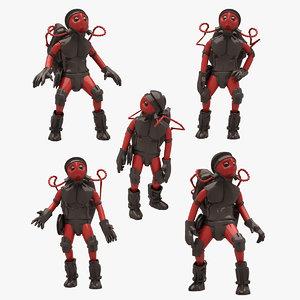 sci-fi man 3D