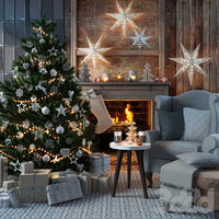 3D merry christmas tree chair