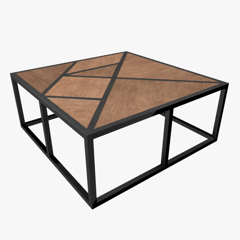 3D model coffee table quad