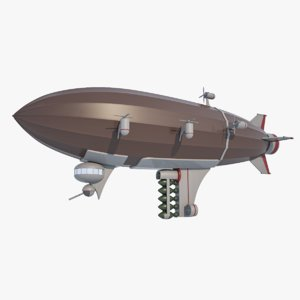 army blimp - sci-fiction 3D