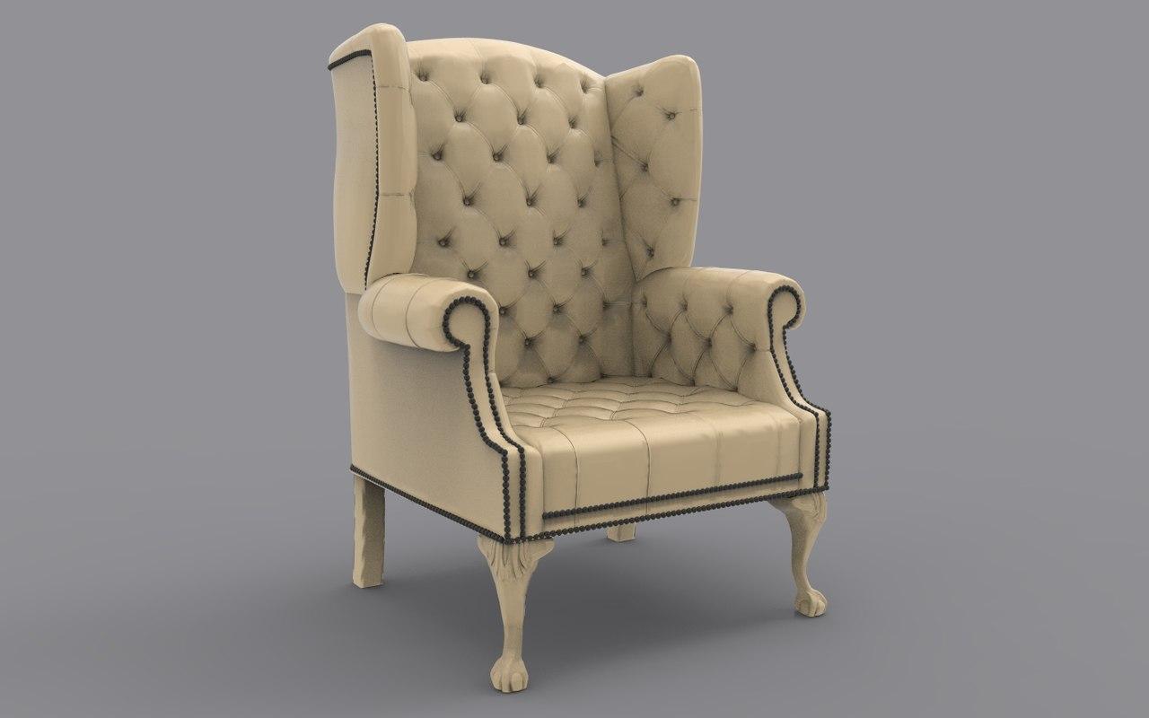 armchair chesterfield model