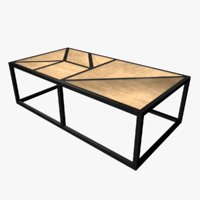 3D model tangram rect coffee