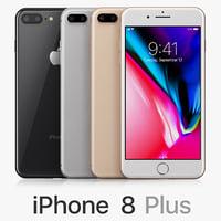 apple iphone 8 colors 3D