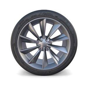 3D tesla x wheel