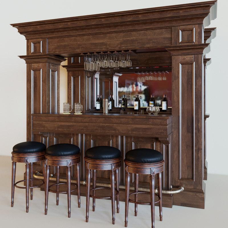 3D model bar beer wine