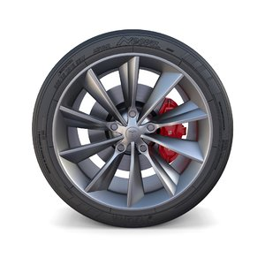 tesla x wheel brakes 3D