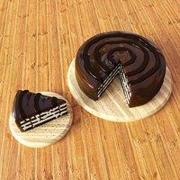 cake chocolate 3D