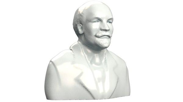 3D bust vladimir lenin