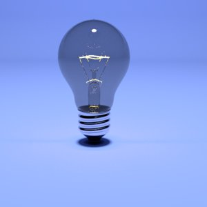 3D bulb lightbulb