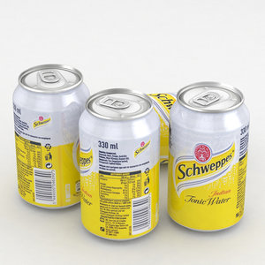3D beverage schweppes indian model