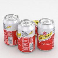 3D beverage schweppes soda