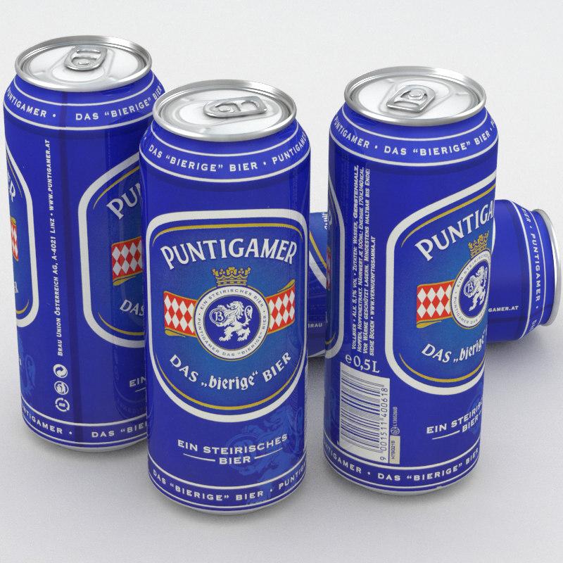 beer puntigamer 3D