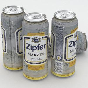 3D beer zipfer model