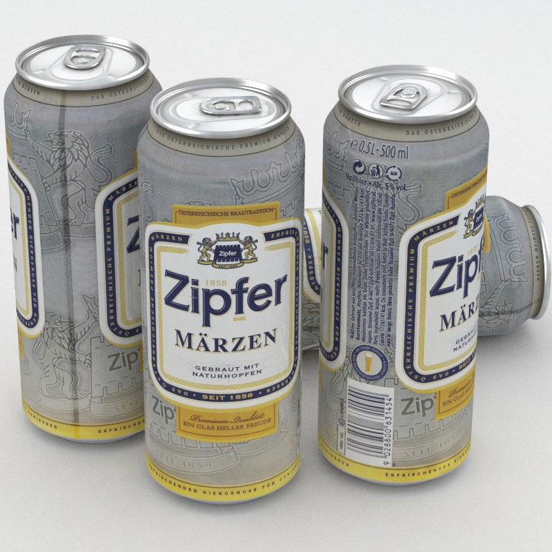 3D beer zipfer model