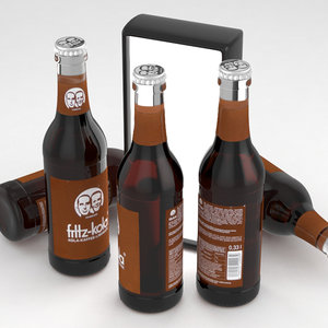 3D fritz-kola beverage