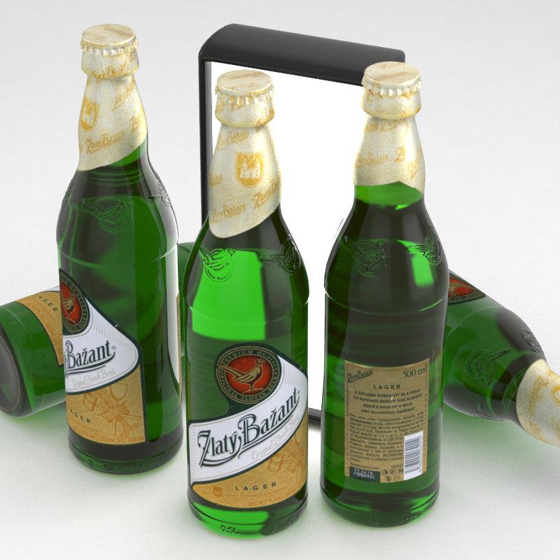beer zlaty bazant 3D model
