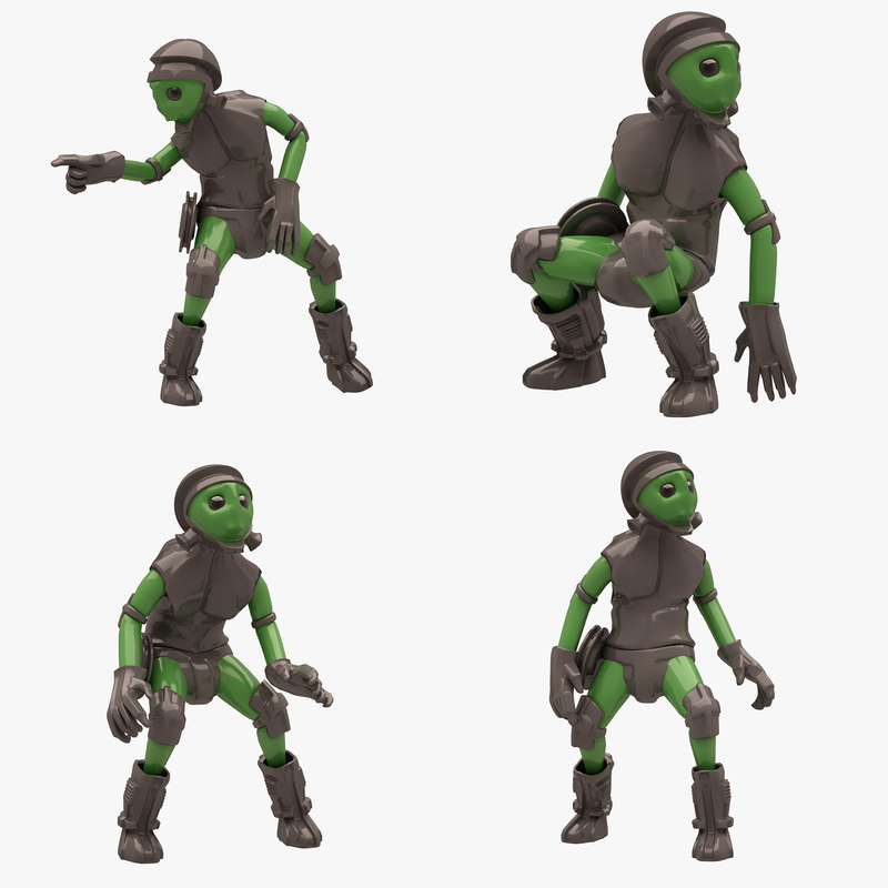 sci-fi man 3D model