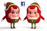 elf christmas 3D