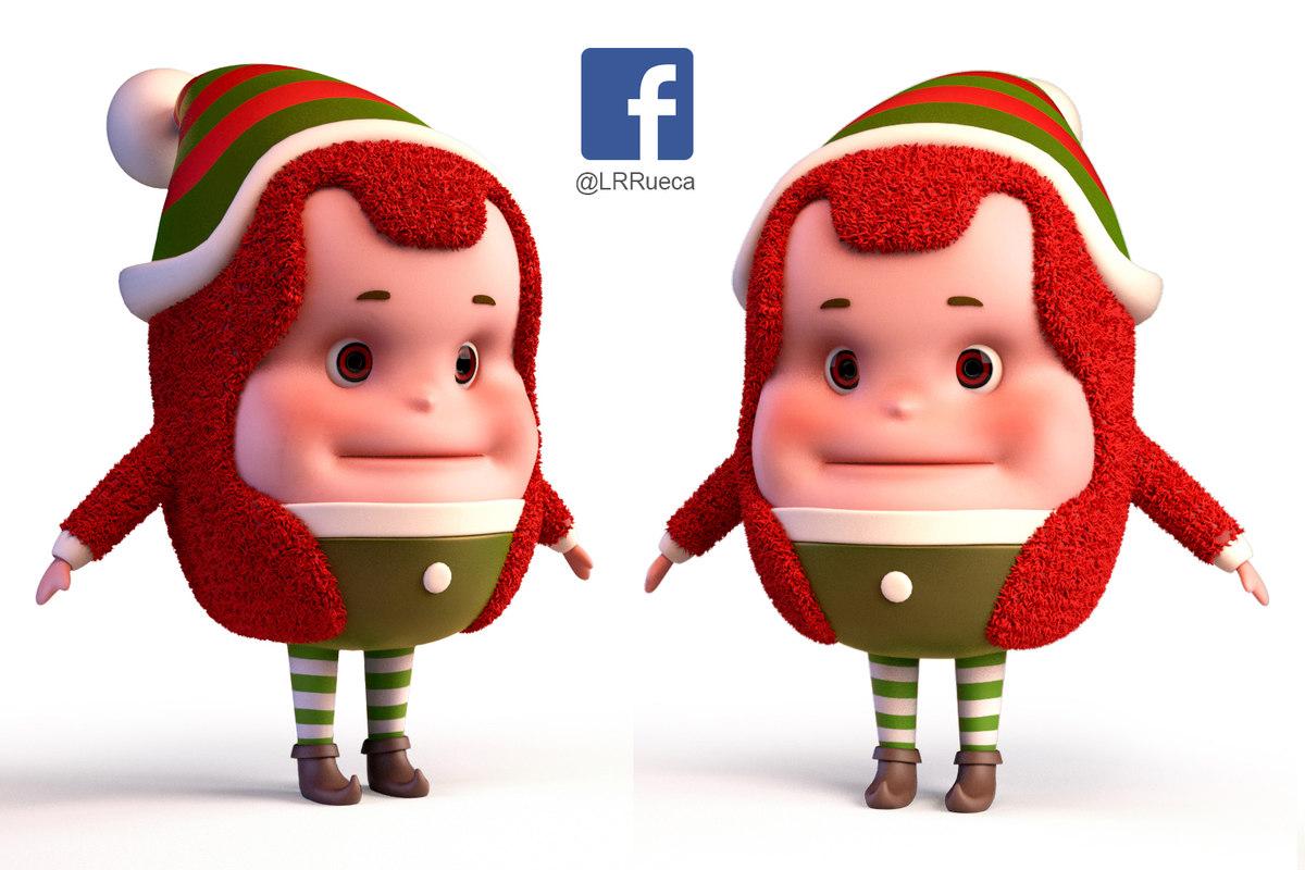 elf christmas 3D model