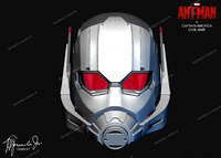 ant-man helmet of captain america civil war movie ready for 3d printing