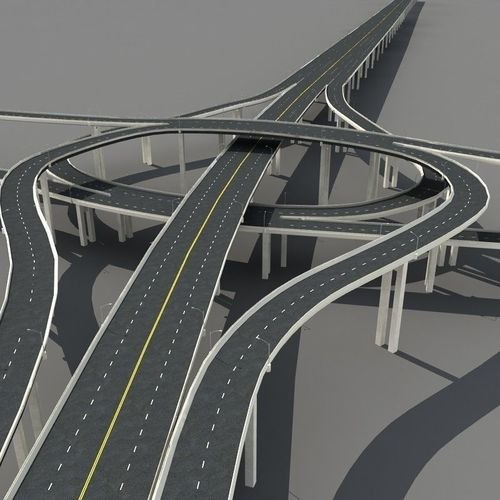 road junction 3D model