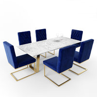 cameron velvet dining chair 3D