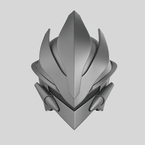 3D robot head ax model
