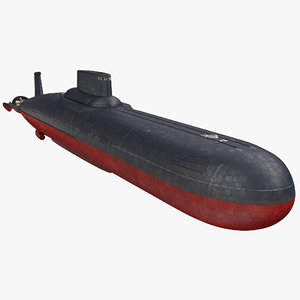 3D typhoon class submarine project model