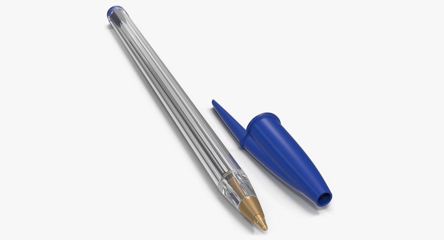 3D transparent plastic ballpoint pen