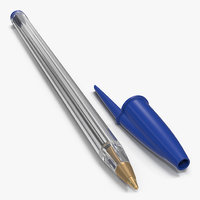 Transparent Plastic Ballpoint Pen