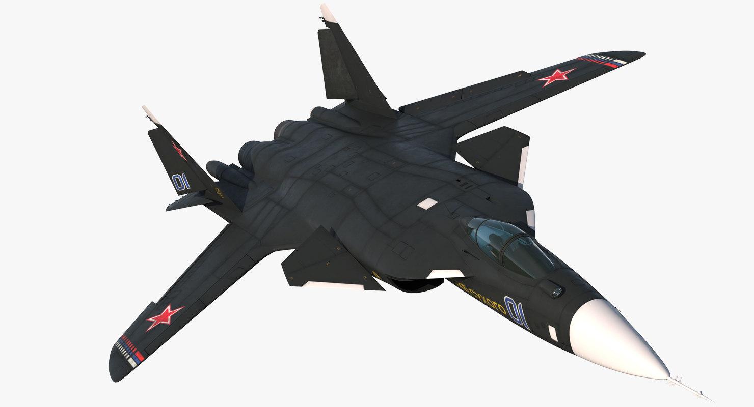3D sukhoi su-47 berkut russin model