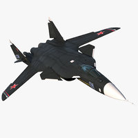 Sukhoi Su-47 Berkut Russin Jet Fighter Rigged 3D Model