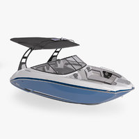 speed motor boat yamaha 3D model