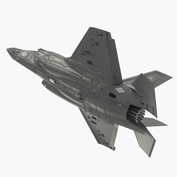 3D stealth multirole fighter lightning model