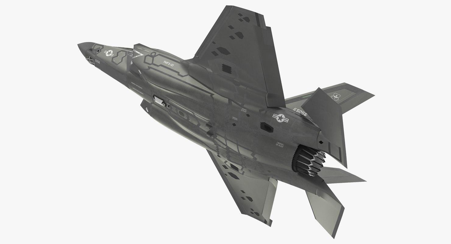 3D stealth multirole fighter lightning model
